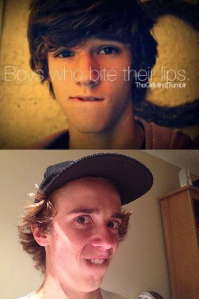 Boys Who Bite Their Lips Lip Bite Meme