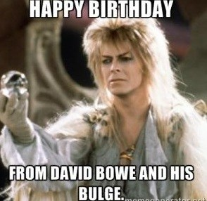 From David Bowe And His Birthday Memes For Friend
