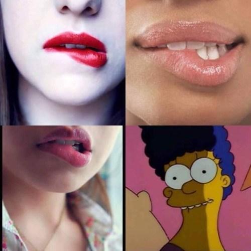 Funny Lip Bite Memes