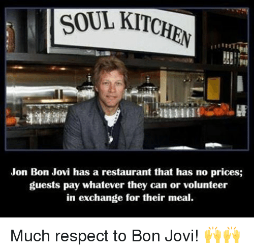 Guests Pay Whatever They Bon Jovi Memes