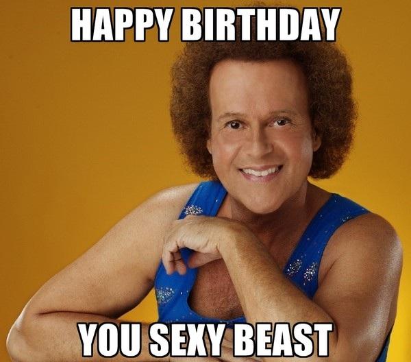 Happy Birthday You Sexy Beast Birthday Meme