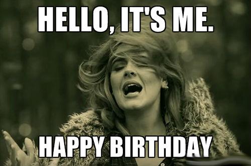 Hello It's Me Happy Best Friend Happy Birthday Meme