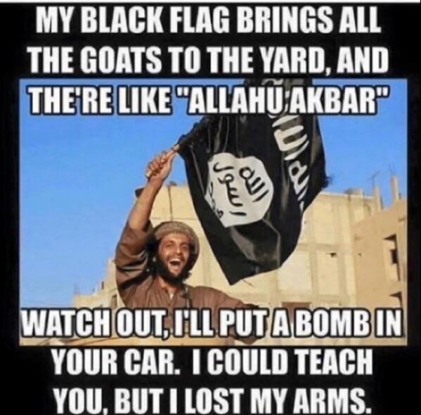 My Black Flag Brings Allahu Akbar Memes