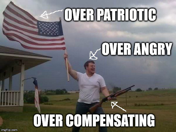 Over Patriotic Over Angry American Meme