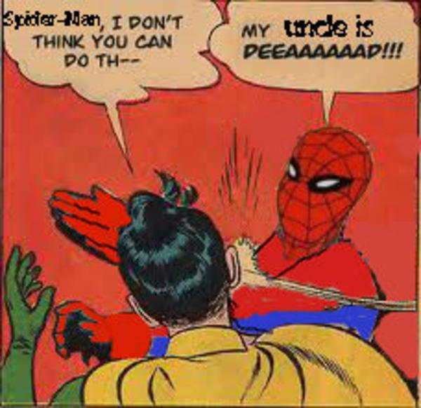 Spider Man I Don't Think Batman Slapping Robin Memes