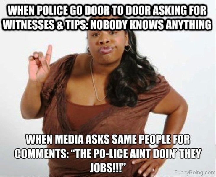 When Police Go Door Black Meme