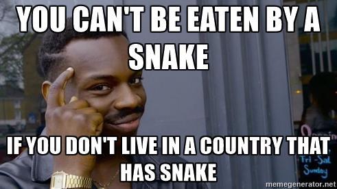 You Can't Be Eaten Black Guy Thinking Meme