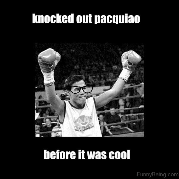 Knocked Out Pacquiao Before Boxing Glove Meme