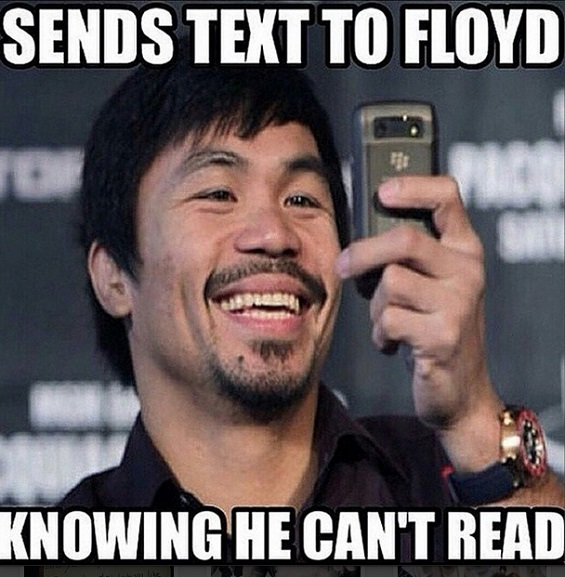 Sends Text To Floyd Boxing Memes Mayweather