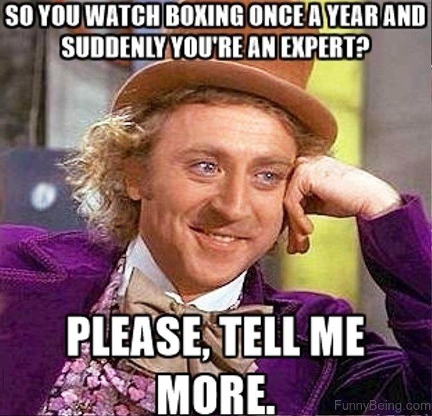 So You Watch Boxing Boxing Meme