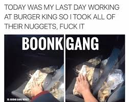 Today Was My Last Boonk Gang Meme