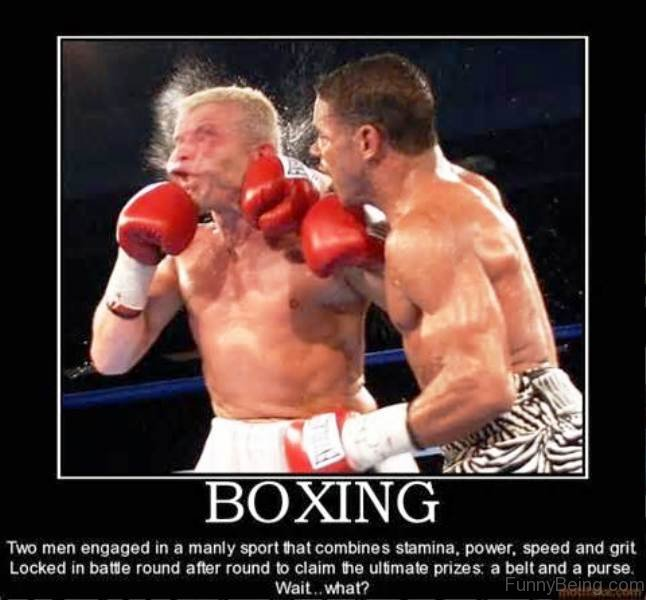 Two Men Engaged In Boxing Glove Meme