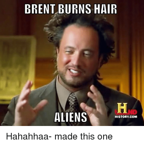 Brent Burns Hair Aliens Brent Meme