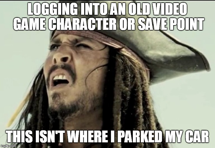 Logging Into An Old Captain Jack Sparrow Meme