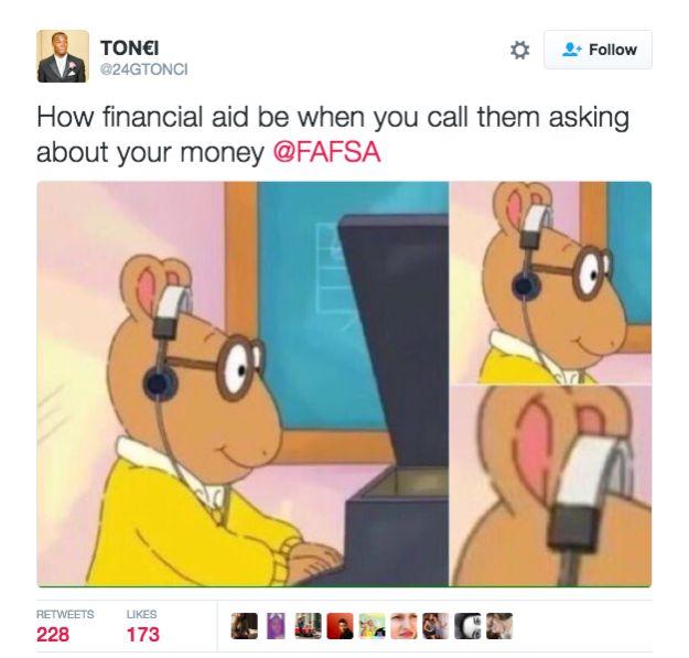 How Financial Aid Be When Cartoon Meme